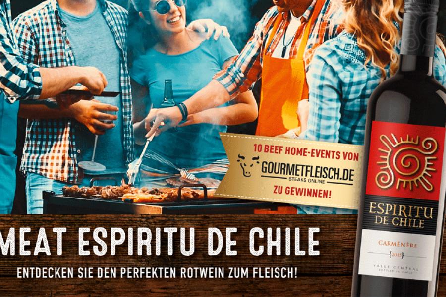 Espiritu de Chile verlost Beefpartys für zu Hause
