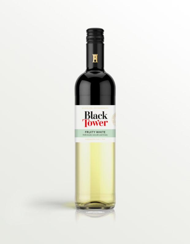 Black Tower Fruity White Wine