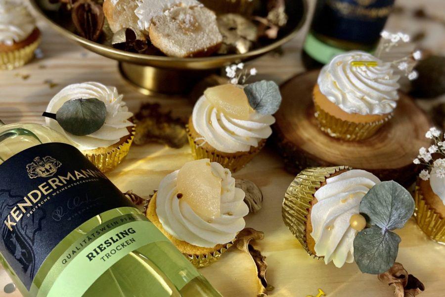 Rezeptidee: Riesling-Apfel Cupcakes von Backgut
