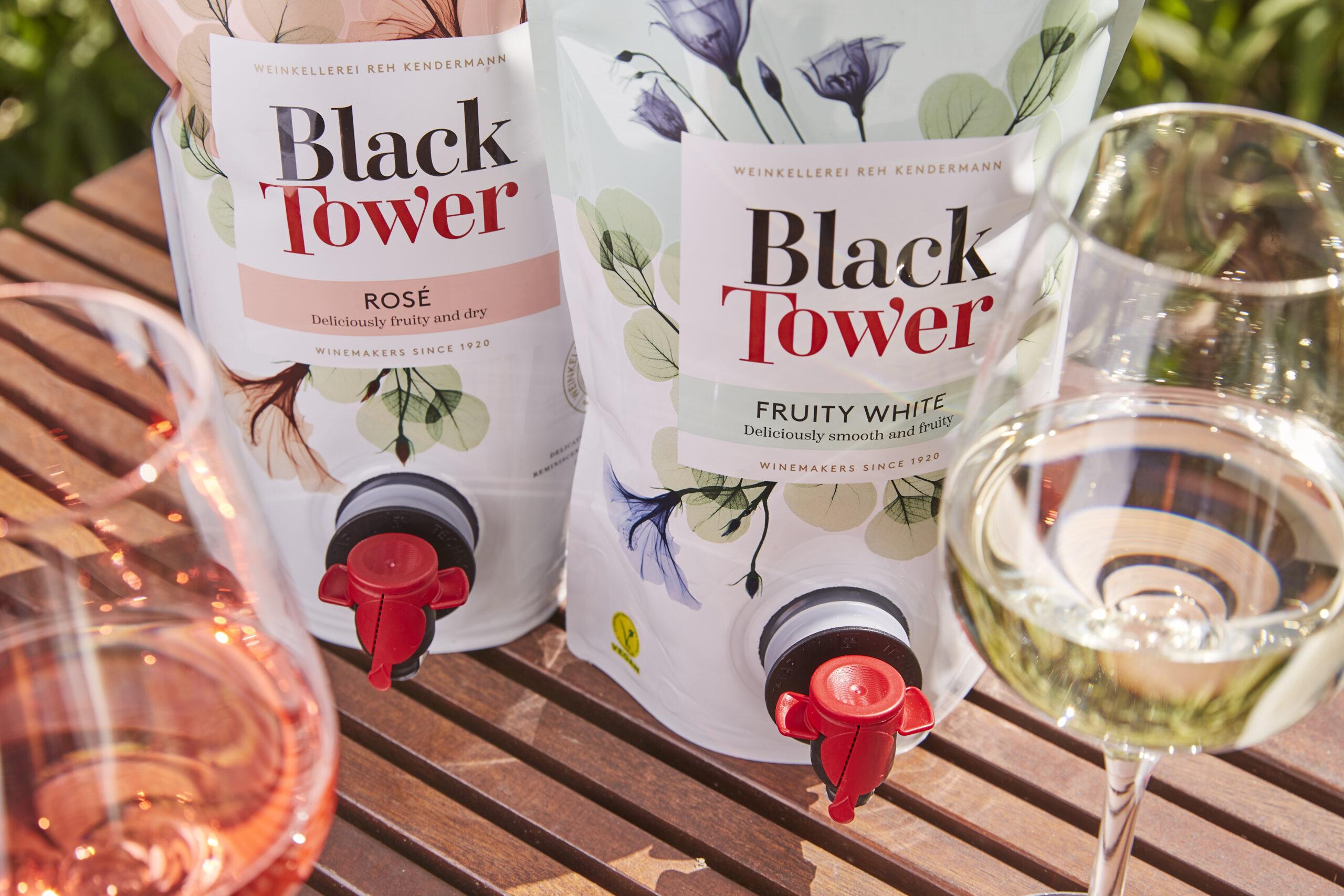 Wein in Beuteln – Black Tower in Pouches